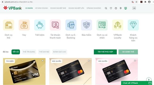 Trí tuệ nhân tạo và thương mại điện tử tích hợp sâu hơn vào website mới của VPBank 1