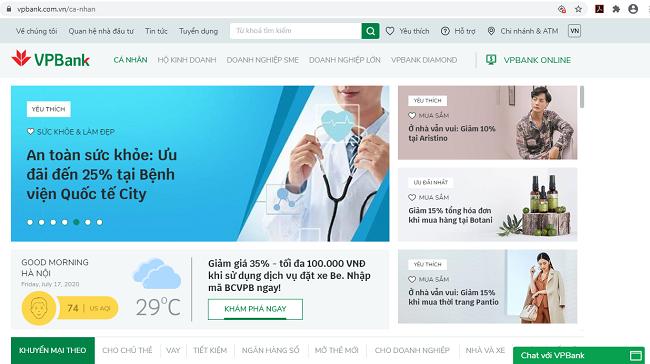 Trí tuệ nhân tạo và thương mại điện tử tích hợp sâu hơn vào website mới của VPBank 2
