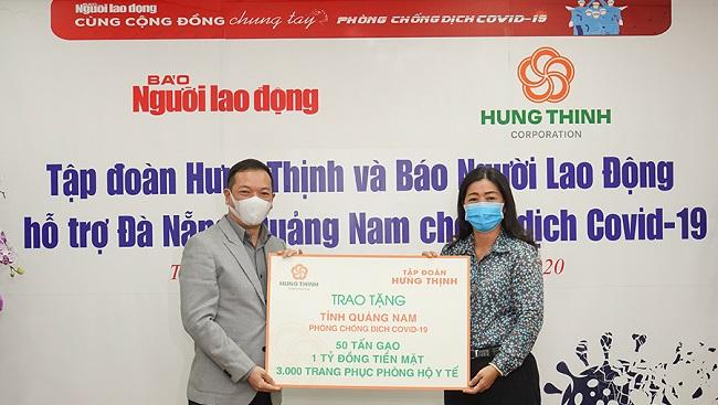 Tập đoàn Hưng Thịnh tiếp sức Đà Nẵng và Quảng Nam phòng chống dịch Covid-19 1