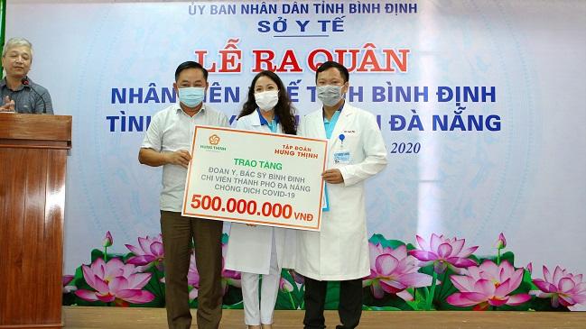 Tập đoàn Hưng Thịnh tiếp sức Đà Nẵng và Quảng Nam phòng chống dịch Covid-19 4