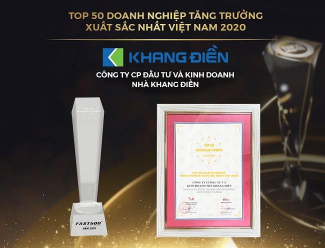 Khang Điền lọt Top tăng trưởng xuất sắc nhất và chủ đầu tư uy tín nhất