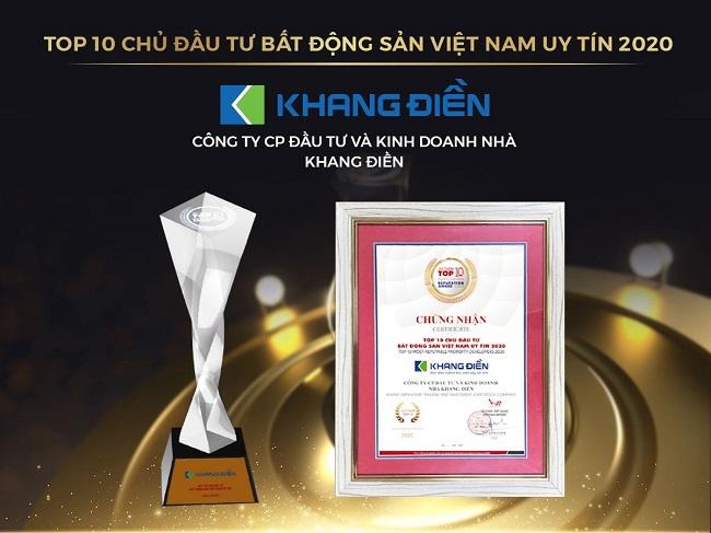 Khang Điền lọt Top tăng trưởng xuất sắc nhất và chủ đầu tư uy tín nhất 1