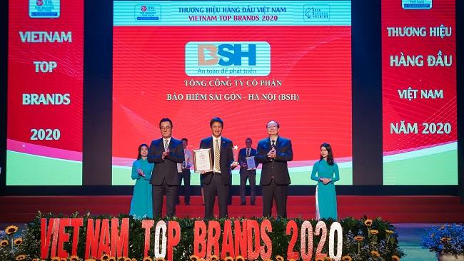 Bảo hiểm BSH là 1 trong 10 thương hiệu hàng đầu Việt Nam năm 2020