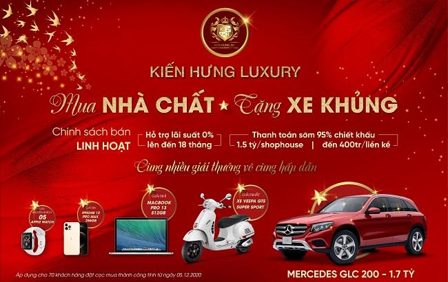 """Kiến Hưng Luxury tung chương trình ưu đãi """"Mua nhà chất - Tặng xe khủng"""""""