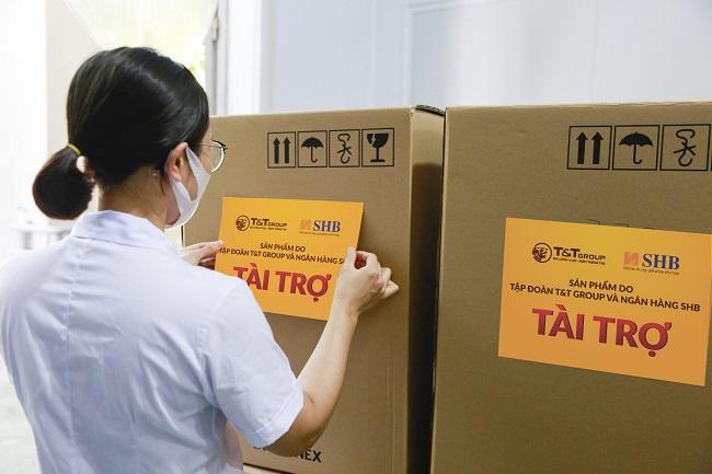T&T Group và SHB hỗ trợ tỉnh Hải Dương 150.000 bộ kit xét nghiệm nhanh