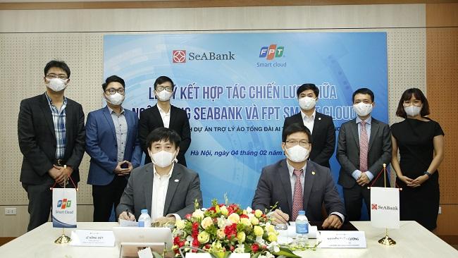 SeABank hợp tác chiến lược với FPT Smart Cloud ra mắt Trợ lý Ảo tổng đài Al