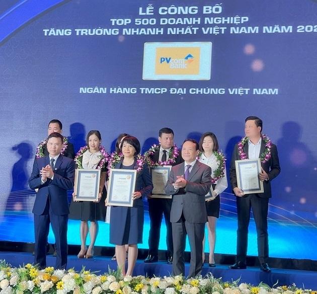 PVcomBank trong Top 500 doanh nghiệp tăng trưởng nhanh nhất Việt Nam năm 2021