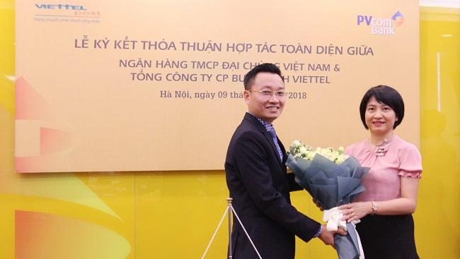 PVcomBank và Viettel Post ra mắt giải pháp ứng vốn kinh doanh trên nền tảng số