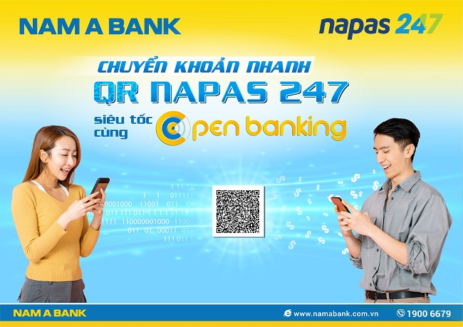 Nam A Bank trong Top ngân hàng Việt đầu tiên chuyển khoản nhanh NAPAS 247 bằng mã QR 1