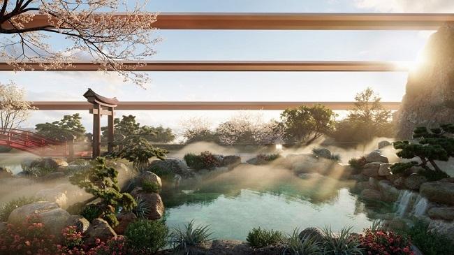 """Cận cảnh tổ hợp onsen 1.000 tỷ trong Ecopark, phát triển bởi 3 """"ông lớn"""" Nhật Bản 1"""