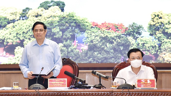 Thủ tướng: Phòng chống dịch Covid-19 là ưu tiên số 1 của Hà Nội