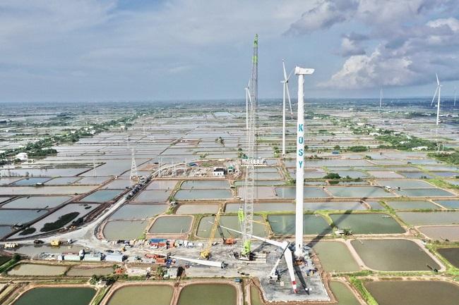 """Tập đoàn Kosy đẩy nhanh tiến độ thi công nhà máy Điện gió Kosy Bạc Liêu trước """"giờ G"""" 1"""