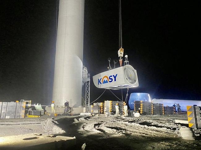 """Tập đoàn Kosy đẩy nhanh tiến độ thi công nhà máy Điện gió Kosy Bạc Liêu trước """"giờ G"""" 4"""