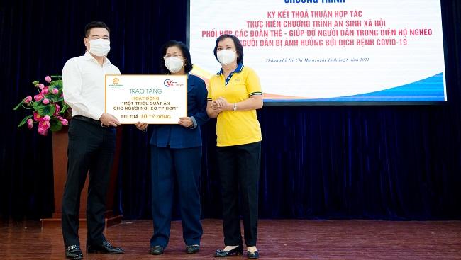 Tập đoàn Hưng Thịnh góp 10 tỷ đồng hỗ trợ suất ăn cho người nghèo