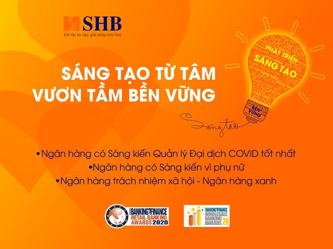 SHB nhận 3 giải thưởng quốc tế từ The Asian Banking and Finance