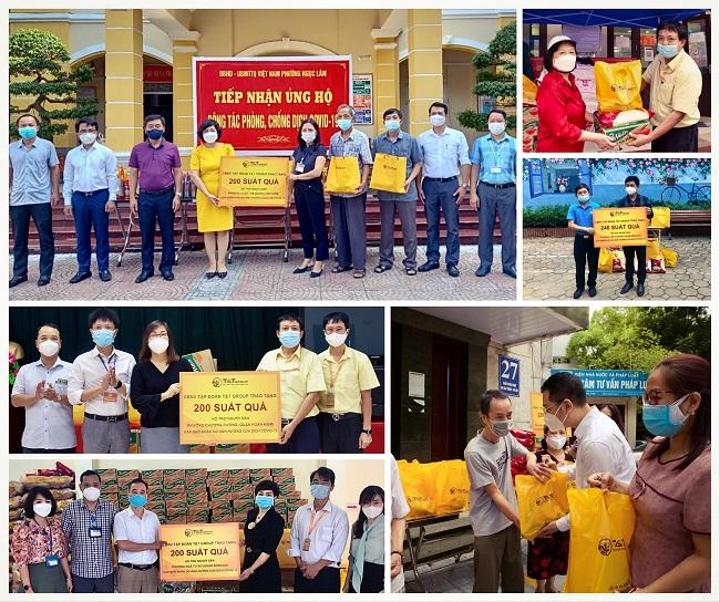 T&T Group tặng 3.000 suất quà cho người dân Hà Nội gặp khó do Covid-19 1