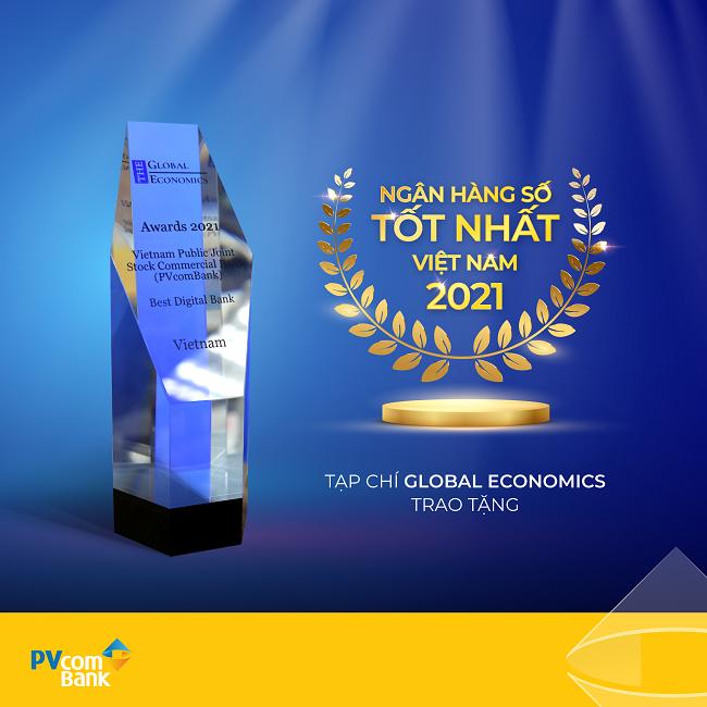 PVcomBank nhận giải Ngân hàng số tốt nhất Việt Nam năm 2021