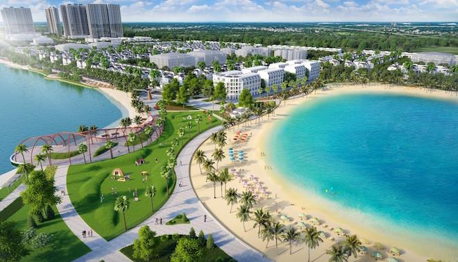 Khu đô thị đầu tiên tại Hà Nội có biển hồ nhân tạo 3