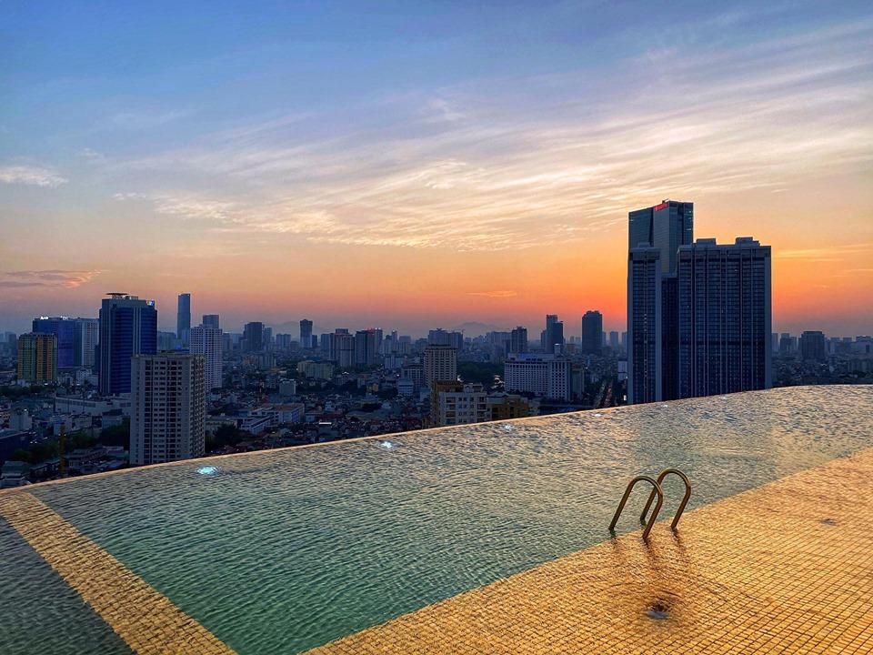 Chiêm ngưỡng khách sạn phủ vàng từ chân đế tới nóc sắp khai trương ở Hà Nội 4