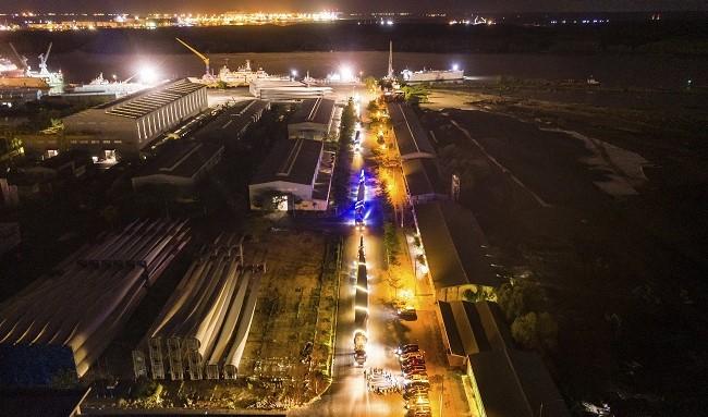 Siêu hành trình của các thiết bị siêu trường siêu trọng đến với dự án điện gió 5