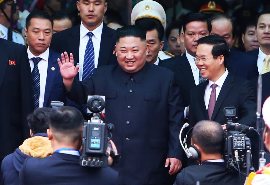 Những hình ảnh đầu tiên của Chủ tịch Triều Tiên Kim Jong-un tại Việt Nam 7