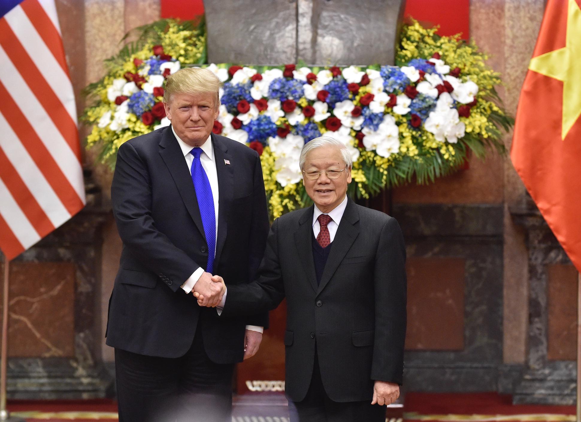 Chùm ảnh Tổng Bí thư, Chủ tịch nước Nguyễn Phú Trọng tiếp Tổng thống Donald Trump