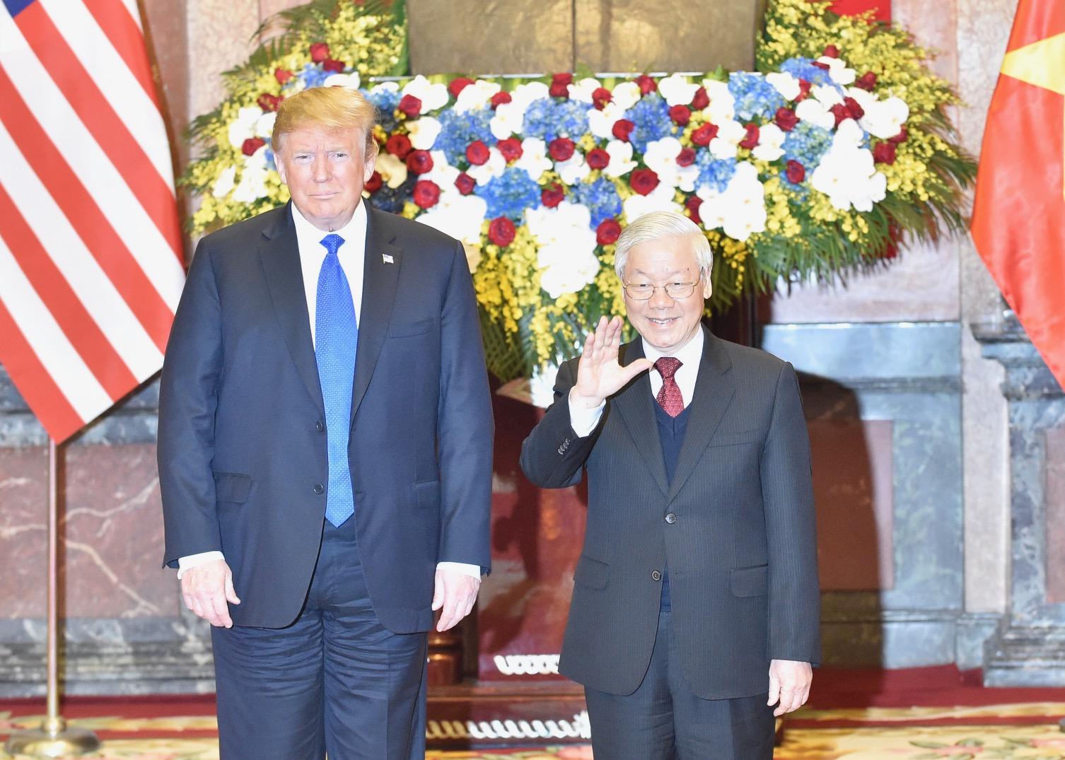 Chùm ảnh Tổng Bí thư, Chủ tịch nước Nguyễn Phú Trọng tiếp Tổng thống Donald Trump 1
