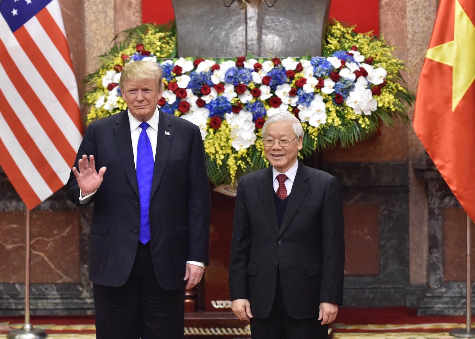 Chùm ảnh Tổng Bí thư, Chủ tịch nước Nguyễn Phú Trọng tiếp Tổng thống Donald Trump 2