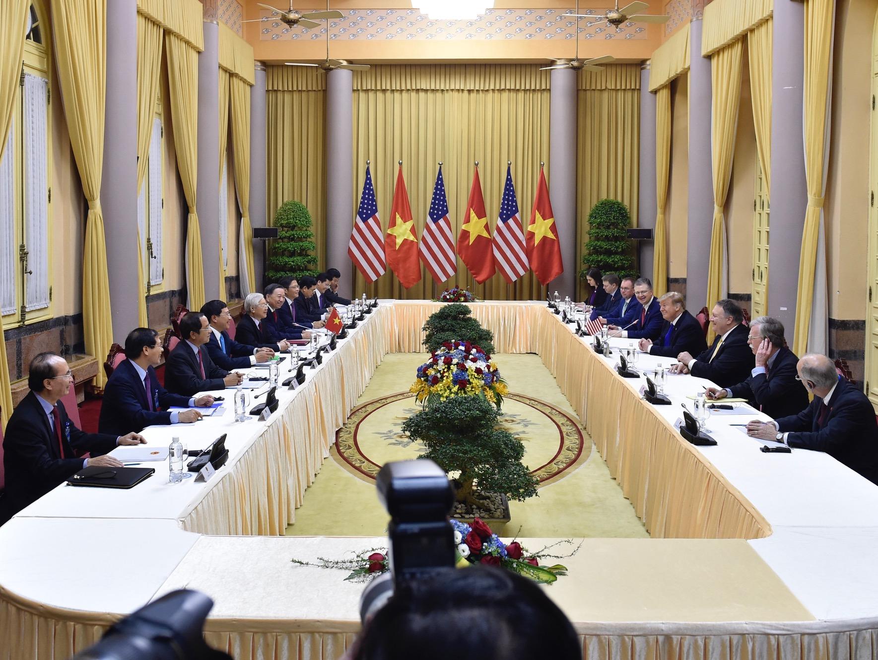 Chùm ảnh Tổng Bí thư, Chủ tịch nước Nguyễn Phú Trọng tiếp Tổng thống Donald Trump 3