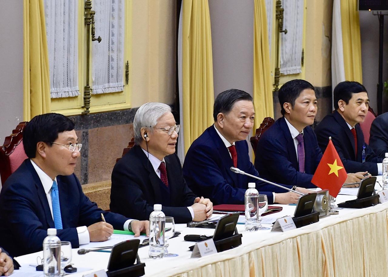 Chùm ảnh Tổng Bí thư, Chủ tịch nước Nguyễn Phú Trọng tiếp Tổng thống Donald Trump 4