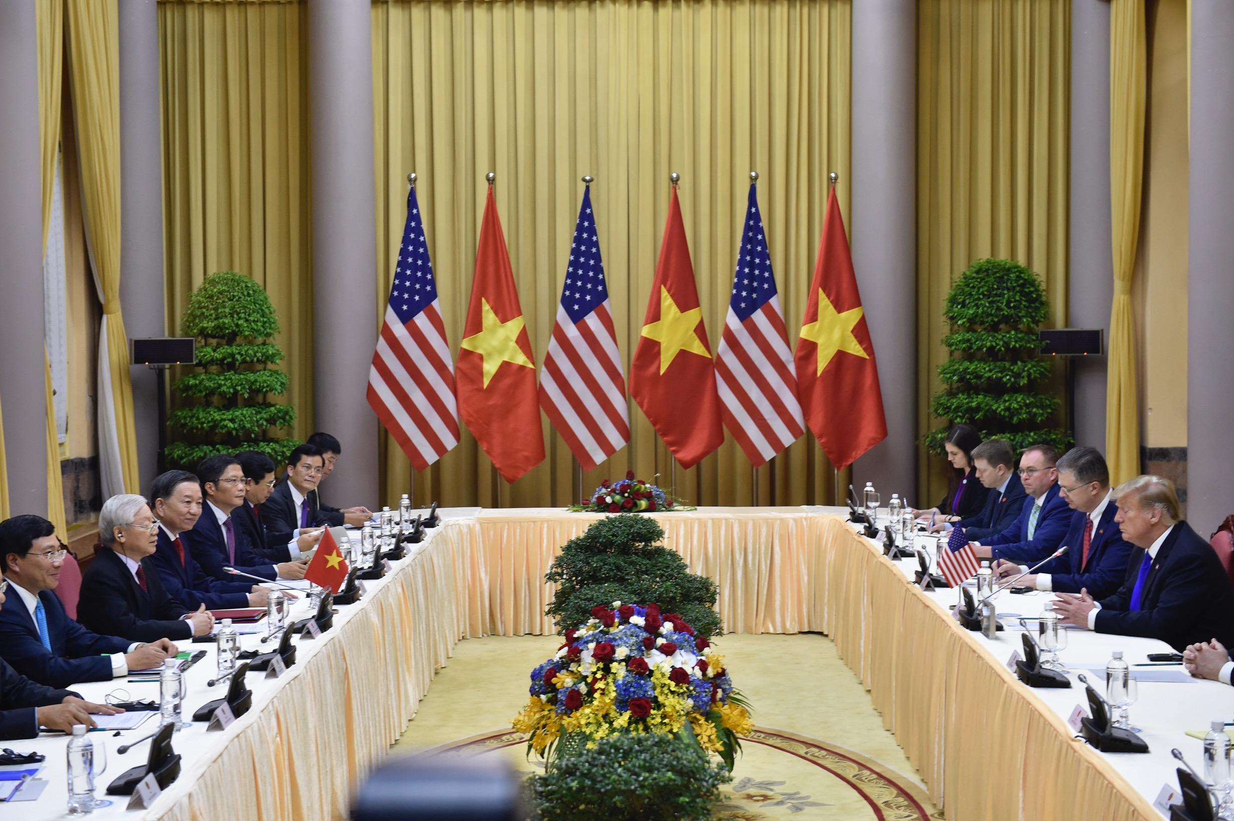 Chùm ảnh Tổng Bí thư, Chủ tịch nước Nguyễn Phú Trọng tiếp Tổng thống Donald Trump 6