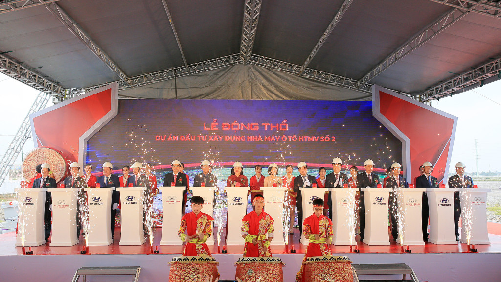 Tập đoàn Thành Công và Hyundai Motor động thổ dự án nhà máy Hyundai Thành Công số 2 tại Ninh Bình 2