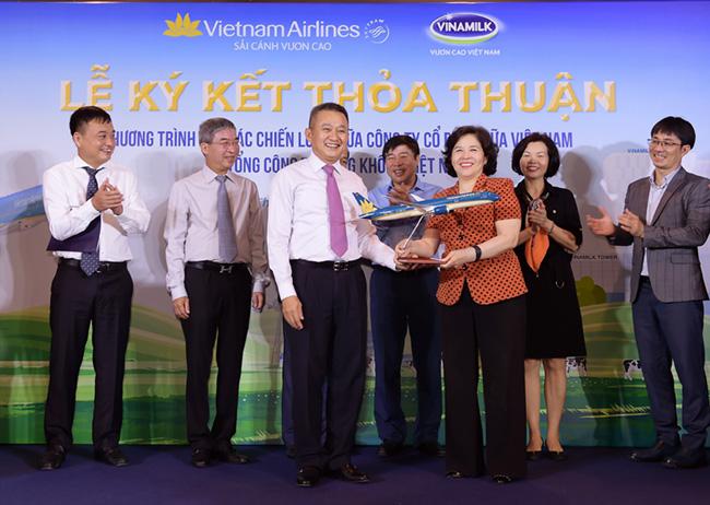 Vinamilk vươn lên không trung khi bắt tay hợp tác với Vietnam Airline