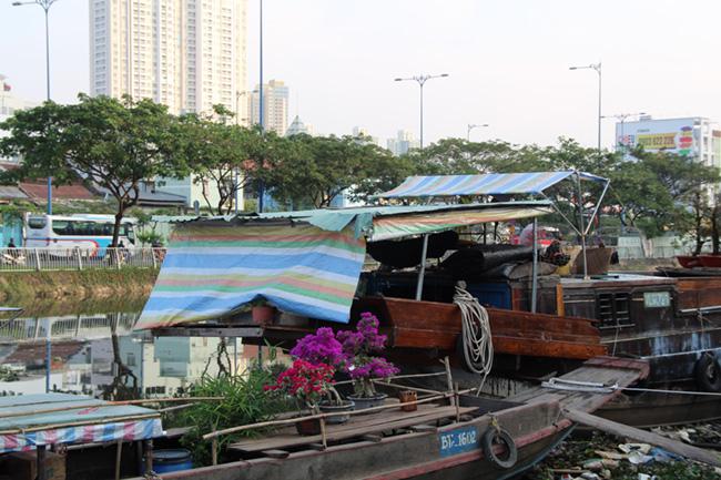 Chợ hoa 'trên bến dưới thuyền' 6