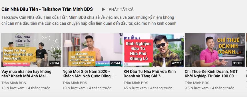 Đầu tư bất động sản hiệu quả với kênh youtube Trần Minh BĐS 3