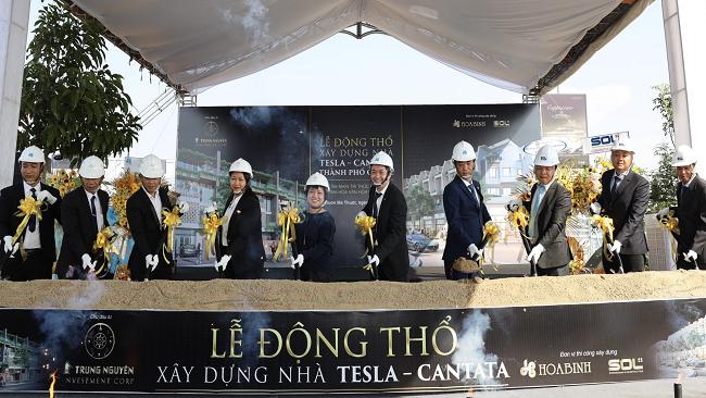 Hòa Bình xây dựng nhà ở tại dự án Thành phố Cà phê của Trung Nguyên Legend