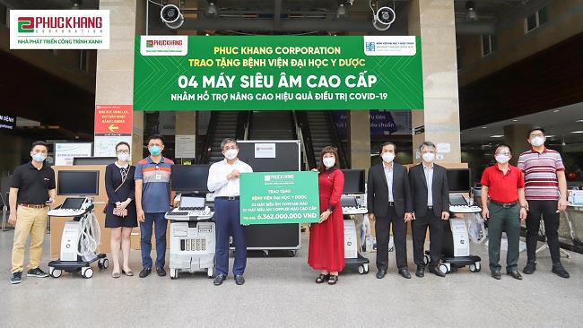Phuc Khang Corporation đồng hành cùng lực lượng tuyến đầu chống dịch Covid