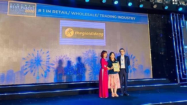 Thế Giới Di Động nhận giải thưởng 'Nơi làm việc tốt nhất Việt Nam'