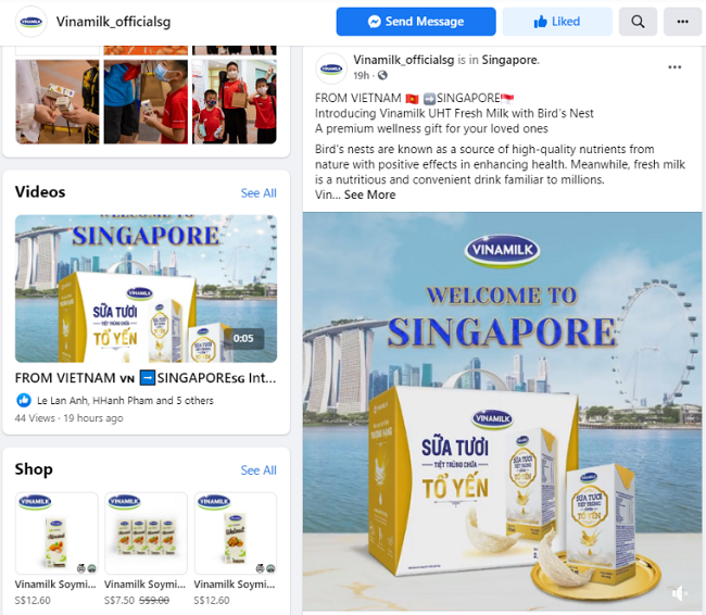 Vinamilk tấn công thị trường Singapore với dòng sản phẩm cao cấp 4