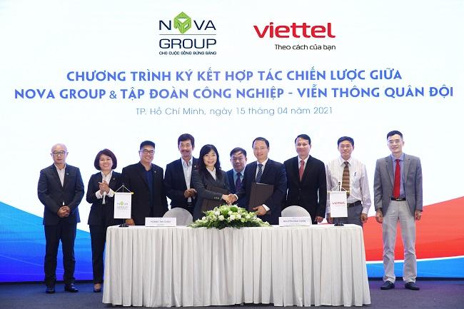 NovaGroup và Viettel hợp tác chiến lược trong nhiều lĩnh vực
