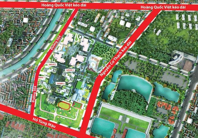 Đường Nguyễn Cơ Thạch dự kiến thông đường trong tháng 12/2018
