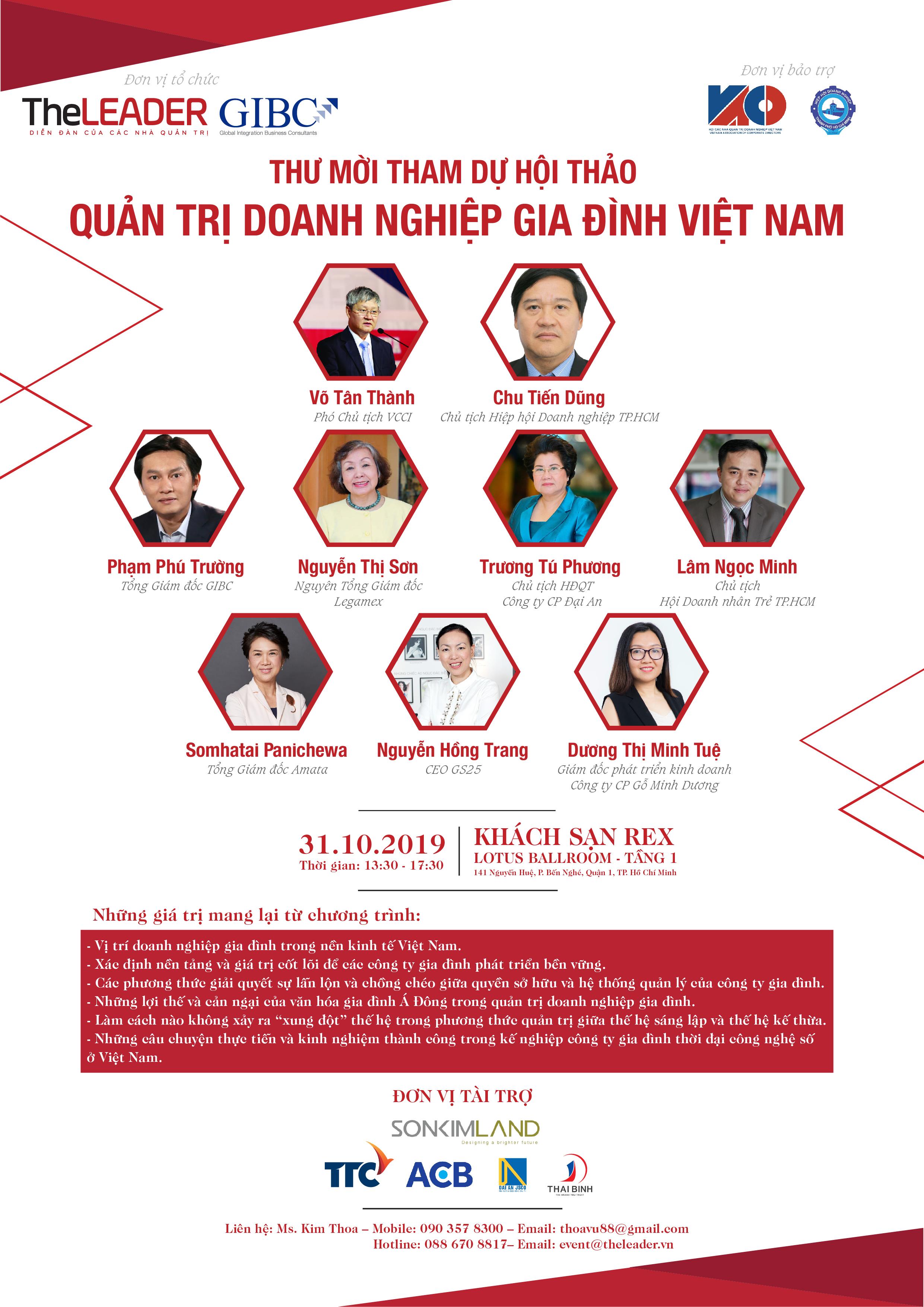 TheLEADER tổ chức hội thảo Quản trị doanh nghiệp gia đình