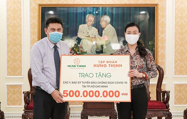 Tập đoàn Hưng Thịnh tiếp sức y, bác sỹ tuyến đầu chống dịch 1