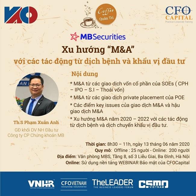 Xu hướng M&A và khẩu vị đầu tư hậu dịch Covid-19