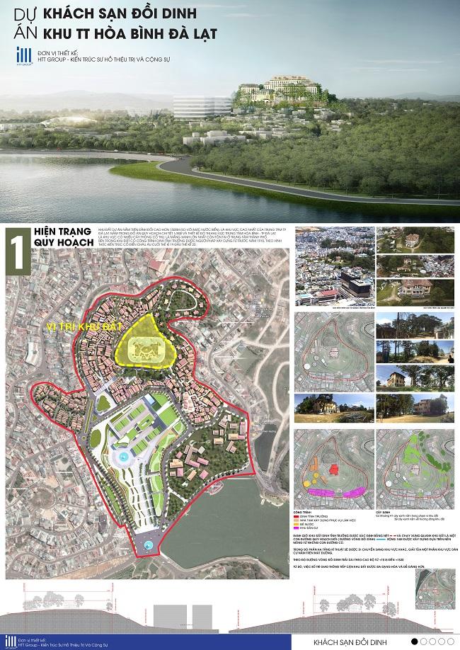 Vì sao 3 phương án kiến trúc khu đồi Dinh tỉnh trưởng Đà Lạt bị giới chuyên môn phản ứng dữ dội? 1