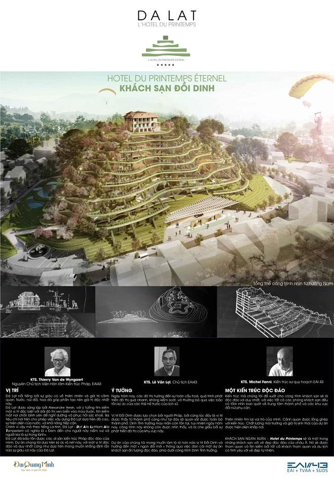 Vì sao 3 phương án kiến trúc khu đồi Dinh tỉnh trưởng Đà Lạt bị giới chuyên môn phản ứng dữ dội?