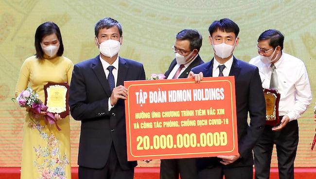 HDMon Holdings tiếp tục ủng hộ 20 tỷ đồng phòng, chống dịch Covid-19